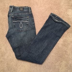 Lucky Brand Embroidered Lola Bootcut Jean Size 25P